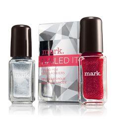 Avon: mark Nailed It Trend Mini Nail Lacquer in Snowberry & Tinseltown - jelenamarshall.avonrepresentative.com #avon #beauty #cute #buy #cosmetics #representative #body #eyes #lips #mark #products #makeup