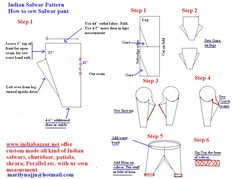 Sewing pattern & diagrams Salwar Kameez Salwar kameez sewing pattern Ladder Safety Tips Using th Salwar Pattern, Suit Pattern, Pattern Design, Pattern Ideas, Pants Pattern, Salwar Pants, Salwar Kameez, Sewing Hacks, Sewing Projects