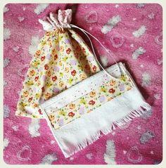 Kit bolsa saco com toalha de mao