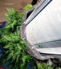 Détail de construction d'un mur végétal. Colonne végétalisé. #greenwall #colonnevegetalise #verticalgarden #murvegetal #detail #plantes