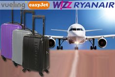 Handbagage koffer + voucher voor twee Europese retour vliegtickets   Ga voordelig op reis!