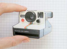 Polaroid Camera Wooden Brooch