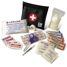 This First Aid Kit is small compact and filled with a wide range of first aid items It is designed to fit easily into your overhead system glove box or seat back pouch Yukon Denali First Aid Kit Black with White GM Logo 2016 Silverado, Silverado 3500, Chevrolet Traverse, Chevrolet Suburban, Cadillac Cts, Cadillac Escalade, Gm Accessories, Chevy Vehicles, Camaro 2016