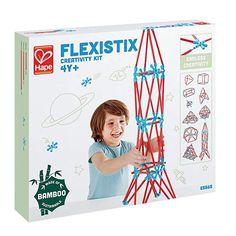 $30.59, Hape Flexistix STEM Building Creativity Kit, Featuring 133 Multi-Colored Bamboo Pieces