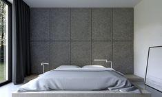 lámparas preciosas en el dormitorio en blanco y gris