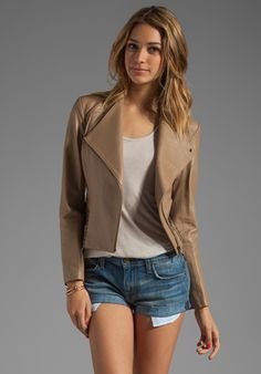 Free People Lace Up Vegan Leather Jacket http://www.freepeople.com ...