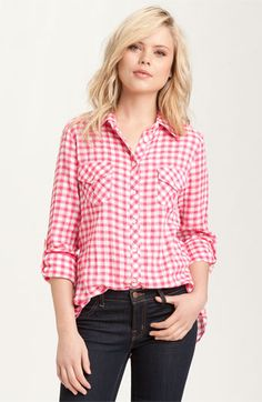 I've always loved a simple pink and white or blue and white, checkered shirt