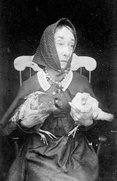 "lucidinvestigations: "" Nancy Luce - Who Lived Many Years On The Island Of Martha's Vineyard With No Companions Other Than Her Hens This early account of the poet Nancy Luce offers a fascinating look at her unusual life. It includes one page of photos. Antique Photos, Vintage Pictures, Vintage Photographs, Old Pictures, Vintage Images, Old Photos, Chickens And Roosters, Pet Chickens, Chickens Backyard"