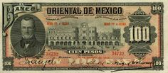 Money Currency of Mexico 100 Pesos banknote