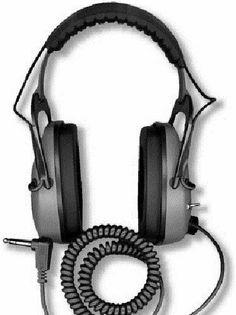 DetectorPro Gray Ghost Deep Woods Heavy Duty Headphones with Angle Plug Wireless Headphones For Running, Bluetooth Headphones, Gold Prospecting, Speaker Design, Metal Detecting, Wood And Metal, Plugs, Gadgets, Walmart