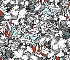 Kristen fabric by wolfie_and_the_sneak on Spoonflower - selbstentworfener Stoff