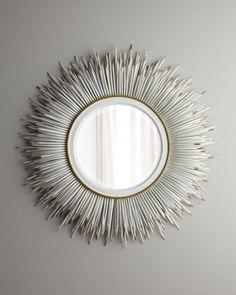 Janice Minor White Porcupine Quill Mirror