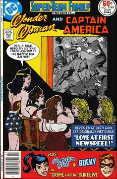 """Super-Team Family: The Lost Issues!: Wonder Woman and Captain America in """"Love at First Newsreel!"""""""