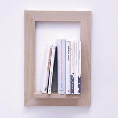 Pablo Objektrahmen - Eiche natur, Hochformat mit Büchern