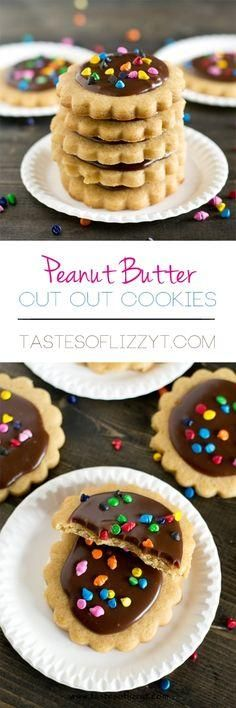 Peanut Butter Cut Out Cookies Recipe. You dont have to give up peanut butter if youre baking cut out cookies. These peanut butter cut out cookies are soft and hold their shape perfectly when baked. Decorate with your favorite frosting recipe or a simple chocolate ganache.