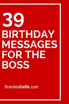 The 40 birthday wishes for boss wishesgreeting pinspirations 41 birthday messages for the boss m4hsunfo