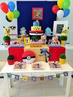 Fiestas Pokemon Go Fiestas Pokemon Gehen – New Ideas Pokemon Party Bags, Festa Pokemon Go, Pokemon Themed Party, Pokemon Birthday Cake, Pokemon Table, Pokemon Room, Pokemon Party Decorations, Birthday Party Decorations, 6th Birthday Parties