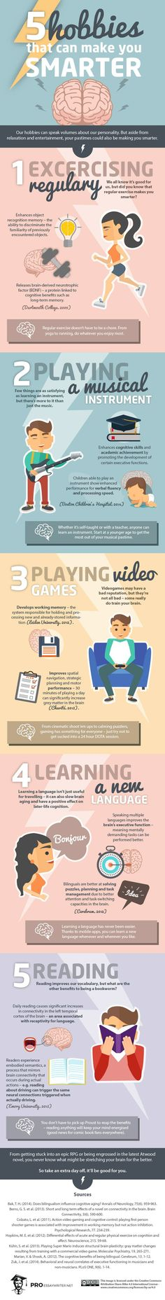 Health And Fitness: 5 Hobbies That Can Make You Smarter (Infographic)