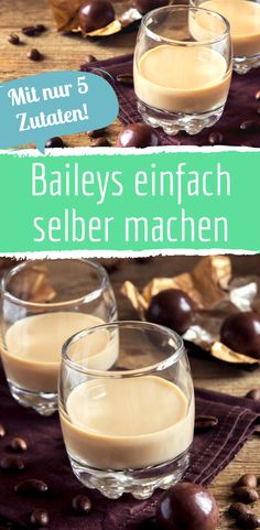 Just make creamy Baileys with just a few ingredients - Likör - Nutella Healthy Eating Tips, Healthy Nutrition, Healthy Foods To Eat, Clean Eating Snacks, Drinks Alcohol Recipes, Non Alcoholic Drinks, Cocktail Recipes, Baileys Cocktails, Chocolate Cocktails