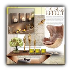 """""""Cause & Effect"""" by sapora ❤ liked on Polyvore featuring interior, interiors, interior design, home, home decor, interior decorating, Trilogy, Envi, Swedese and Diane James"""