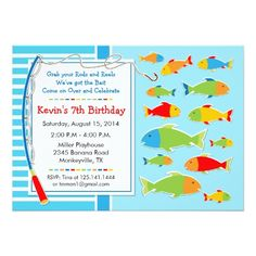 121 Best Fish Birthday Card Invitations Images Anniversary Cards