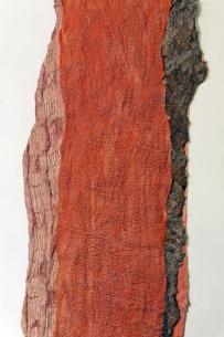 Merino wool, raw silk, chiffon, metal organza, silk organza and raw linen - by Claudy Jongstra