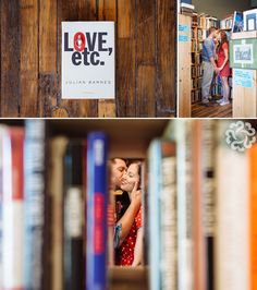 "love the "" through the books"" shot Julian Barnes, Windsor Ontario, Couple Photography, Engagement Session, Wedding Ideas, Couples, Books, Vintage, Livros"