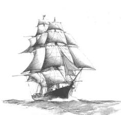 schooner ship drawing - Google Search