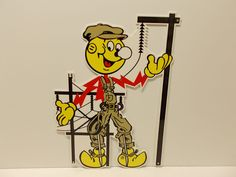 "Reddy Kilowatt Power Light Bulb Electric ""LINEMAN"" SIGN. ELECTRICIAN GIFT! in Collectibles, Advertising, Communication & Utilities 