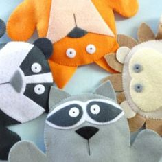 Woodland Animal Felt Hand Puppets | Sewing Pattern | YouCanMakeThis.com