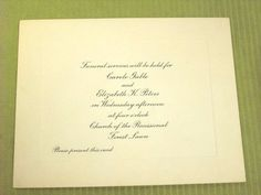 Carole Lombard Funeral leaflet. Her Mother also died in the plane crash. Notice how it says Carole Gable. Sad