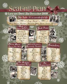 christmas wedding seating plan ideas - Google Search
