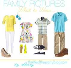Family Pictures What to Wear....might come in handy one day :)