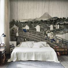 "Papier peint ""Hiroshiges Regnskyar"", Sandberg"