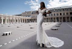 Robe de mariée style sirène en dentelle de Calais-Caudry http://veronikajeanvie.com/  #robesdemariée #dentelle #bohème #labohème #créatrice #parisienne #lescolonnesdeBuren #modenuptiale #tendance #dress #weddingdress #collection  #trend #mariée #mariage #paris #bride #wedding #weddinginspiration #bridal #bridalgown #loveinparis #france #fashion #luxe #glamour #exclusive #couturière #lace #calais  #styliste  #lamariée #dentelleducalais #silk #style #loveparis #parisian