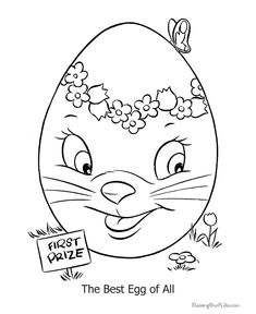 easter egg coloring pages - Egg Coloring Sheet
