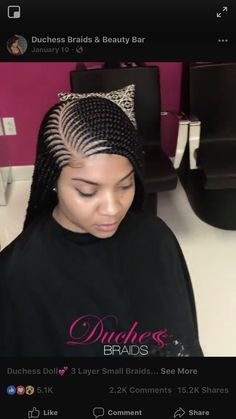 Have you been searching for the most trending African cornrow hairstyles lately? Your search is over. Below are photos of flat twist, Ghana weavings, French and a host of others. Scroll down for more photos: # small Braids weave # small Braids weave Box Braids Hairstyles, Lemonade Braids Hairstyles, Thin Hair Haircuts, Braided Hairstyles For Black Women, Braids Wig, Girl Hairstyles, Cornrows With Box Braids, Hairstyles 2018, Latest Ghana Weaving Hairstyles