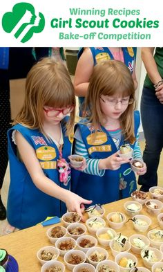 Get all the WINNING RECIPES from our local Girl Scout Cookie Bake-off Competition include: Strawberry Thin Mint Cookie Delight, Toffeetastic Butterscotch Mud Pie, and Samoa Cheesecake Bars!