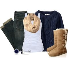 Winter Must-Haves:  Sweater, scarf & Ugg's!