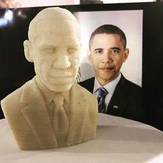 3D printed Barack Obama marzipan head by @bocusini #seedsandchips2017 is killing it! #innovation #marzipan