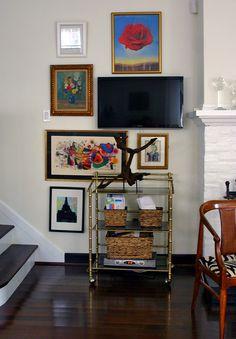 DM living room television art wall