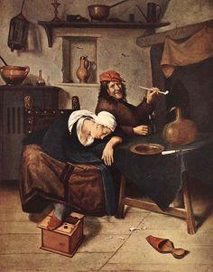 Steen, Jan - Die Trinker, um 1660, Öl a. Leinwand, Eremitage, St. Petersburg