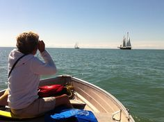 We took Gypsy, our boat out to see the tall ships leaving Port after Harbourfest.