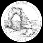 2014-Arches-National-Park-Quarter-and-Coin-Design