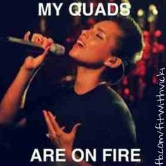 My quads are one fire funny quotes workout quote workout quotes exercise quotes quads alicia keys haha leg day Gym Memes, Gym Humor, Workout Humor, Workout Motivation, Funny Motivation, Crossfit Humor, Rowing Memes, Zumba Meme, T25 Workout