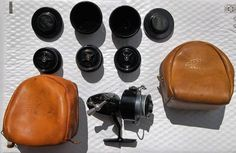 Garcia Mitchell 300 Open Face Fishing Reel ( 3 Spools 2 Tins ) 2 Leather Pouches…