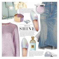 """""""Dress to Shine"""" by anna-anica ❤ liked on Polyvore featuring Kate Spade, Junya Watanabe, Guerlain, MSGM, Balenciaga, Levi's, Furla, outfit, soft and pastel"""
