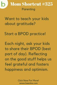 Practical Parenting Tips For Busy Moms Parenting Tips - Teach your kids about gratitude with a daily BPOD practice! Positive parenting tips and advice for boys and girls, from newborn to toddlers and up. CLICK NOW to discover more Parenting Hacks. Practical Parenting, Gentle Parenting, Kids And Parenting, Parenting Hacks, Parenting Styles, Parenting Quotes, Parenting Classes, Brenda, Mentally Strong