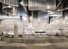 "AMO installs translucent ""stalactites"" above Prada Spring Summer 2016 catwalk Bühnen Design, Display Design, Catwalk Design, Architect Magazine, Interior Architecture, Interior Design, Prada Men, Stage Design, Ceiling Design"
