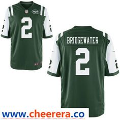 823585ad3 Men s New York Jets  2 Teddy Bridgewater Green Team Color Stitched NFL Nike  Game Jersey